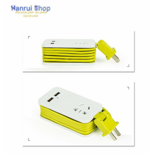 Worldmart ổ cắm điện thông minh nhỏ gọn dành cho macbook, laptop, thiết bị khác