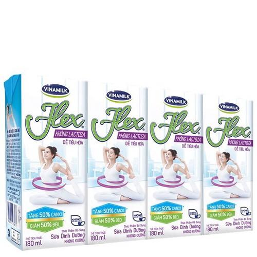 Thùng 48 hộp sữa tiệt trùng Flex không Lactose 180ml