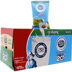 Thùng 48 bịch sữa tiệt trùng CÔ GÁI HÀ LAN  có đường