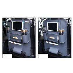 Bộ 02 Túi để đồ treo sau ghế ô tô da PU cao cấp - Màu xám