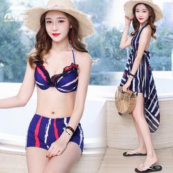 Bikini 2 Mảnh Đồ bơi đi biển kèm váy thời trang