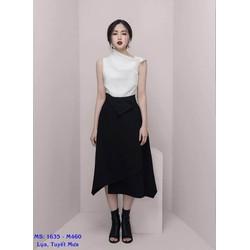 Set Áo Kiểu Váy Chữ A Dáng Dài Cá Tính