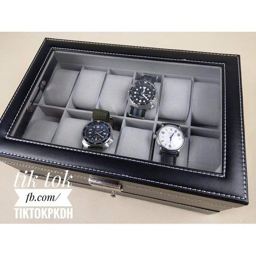 Hộp đựng 12 đồng hồ kèm 1 ngăn để trang sức - 5546141 , 9331057 , 15_9331057 , 475000 , Hop-dung-12-dong-ho-kem-1-ngan-de-trang-suc-15_9331057 , sendo.vn , Hộp đựng 12 đồng hồ kèm 1 ngăn để trang sức