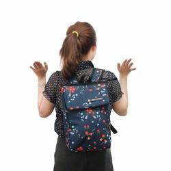 Simplecarry balo thời trang vải hoa laptop 13 inches F2