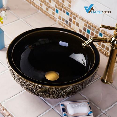 Chậu lavabo sứ mỹ thuật cao cấp – LVB030 - 5547135 , 9332658 , 15_9332658 , 2100000 , Chau-lavabo-su-my-thuat-cao-cap-LVB030-15_9332658 , sendo.vn , Chậu lavabo sứ mỹ thuật cao cấp – LVB030