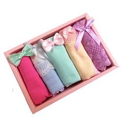Hộp 5 quần lót cotton in hình dễ thương