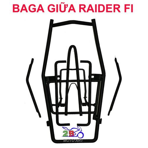 BAGA GIỮA XE RAIDER FI - SẮT SƠN ĐEN