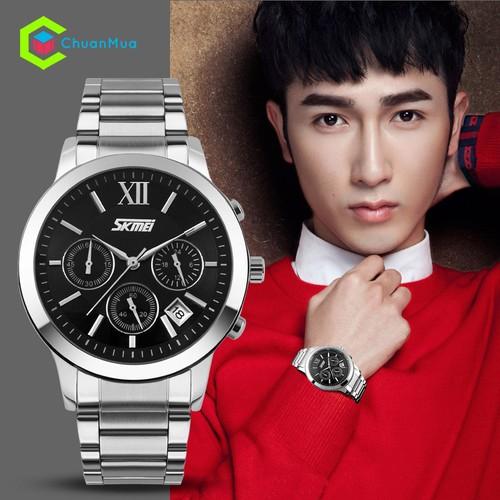 Đồng hồ chạy 6 kim Nam SKMEI SK9097 FULL BOX