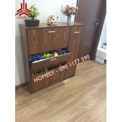 Tủ giày dép bằng gỗ đa năng, thông minh, tiện dụng cho căn hộ chung cư