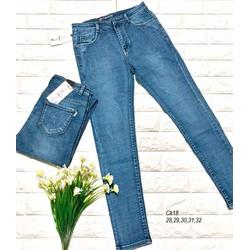Quần jean nữ lưng cao cào nhẹ