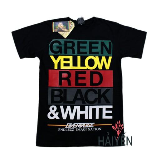 Áo thun Bigsize Thái Lan in 3D Green Yellow Red Black White T0129-01