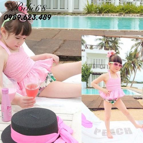 Đồ bơi sanh chảnh cho bé từ 15-30 kg màu hồng B14