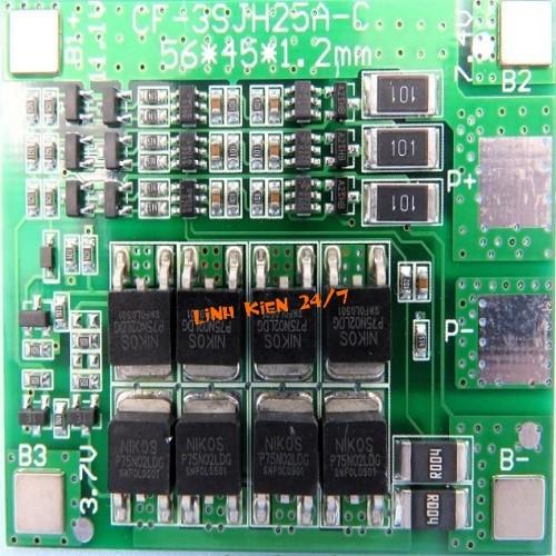 Mạch Sạc Và Bảo Vệ Pin 12V 3S 25A - 10607387 , 9350761 , 15_9350761 , 92000 , Mach-Sac-Va-Bao-Ve-Pin-12V-3S-25A-15_9350761 , sendo.vn , Mạch Sạc Và Bảo Vệ Pin 12V 3S 25A
