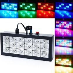 đèn sân khấu 18 led cảm ứng nhạc