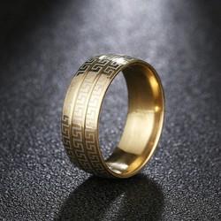 Nhẫn hoa văn titanium độc đáo vĩnh viễn không đen gỉ