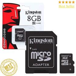Thẻ Nhớ Micro SDHC Kingston 8GB Kèm Adapter Chính Hãng