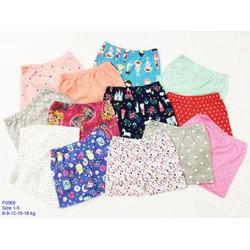 Bộ 15 quần ngắn bé gái chất borip xịn