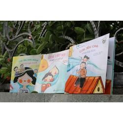 Bộ 3 sách song ngữ Việt Anh chủ đề Con yêu cha mẹ, gia đình