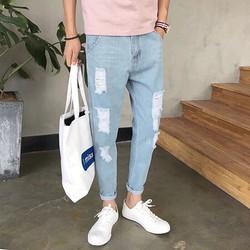 quần jean nam rách beggy thời trang