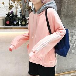 áo hoodie tay viền sọc cá tính Mã: NT1995 - HỒNG