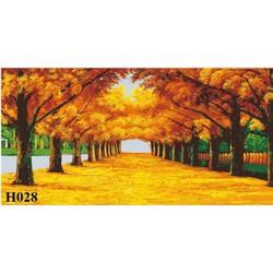 tranh DIY mùa thu vàng bộ 3 tấm 50 x 60 cm