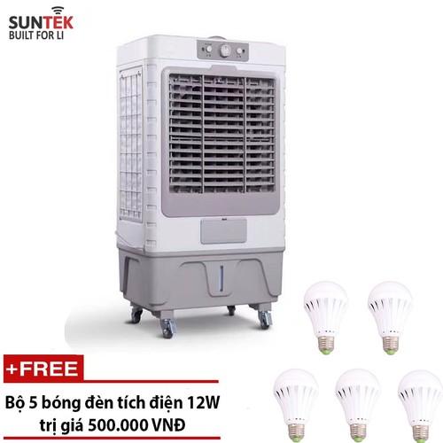 Quạt điều hòa – Máy làm mát không khí công suất cao SUNTEK L-750 Knob + Tặng 5 bóng đèn tích điện