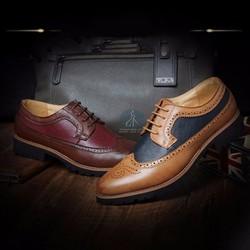 Giày Oxford brouge - Giày tây - Giày công sở nam