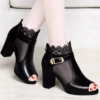 Giày Boot Cổ Lưới Hoa - G247 thumbnail