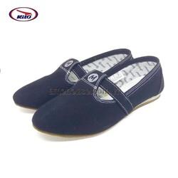 Giày vải Jean Thái Lan nữ siêu nhẹ - MOSSONO - đen