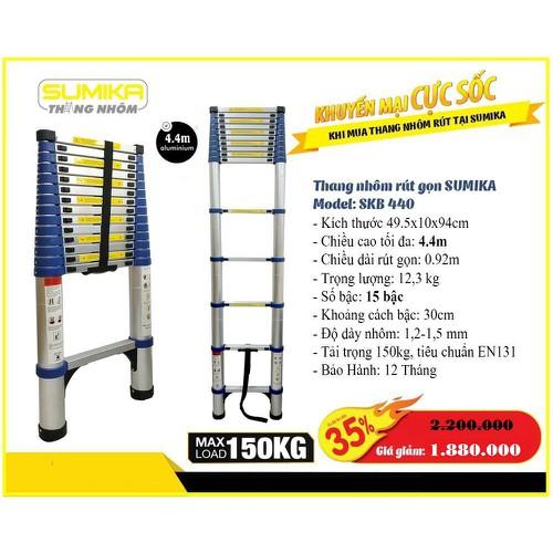 Thang nhôm rút Sumika SKB440