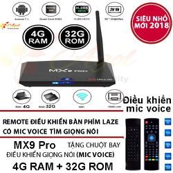 ANDROID TV BOX MX9 PRO 4GB RAM 32G ROM CÓ ĐIỀU KHIỂN GIỌNG NÓI