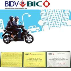 Bảo hiểm xe máy BIDV bắt buộc và tự nguyện 2 năm