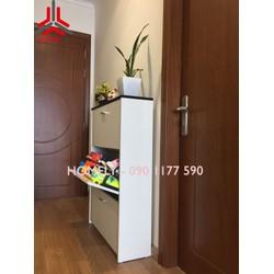 Tủ giầy thông minh bằng gỗ siêu tiết kiệm diện tích dành cho chung cư