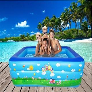 Bể bơi phao 2m1 đế chống trượt + tặng bơm điện mini - beboi2m1 thumbnail