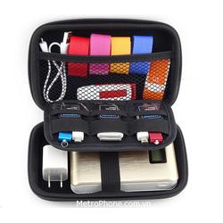 HỘP ĐỰNG PHỤ KIỆN ĐỒ CÔNG NGHỆ SIZE VỪA  CÁP , SẠC , USB, TAI NGHE  14,5 cm x 8,5 cm x 3,5 cm