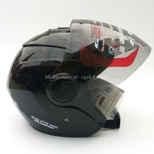 Mũ bảo hiểm GRS A649K dành cho người đầu to - màu đen bóng