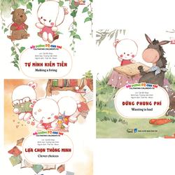 Bộ 3 cuốn sách song ngữ bồi dưỡng chỉ số tài chính FQ cho bé