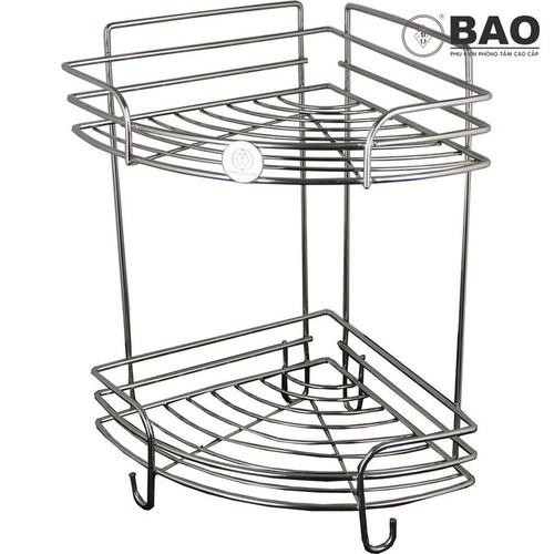 Kệ góc inox dùng trong phòng tắm 2 tầng BAO - BN640 Inox 304 - 5568674 , 9382255 , 15_9382255 , 635000 , Ke-goc-inox-dung-trong-phong-tam-2-tang-BAO-BN640-Inox-304-15_9382255 , sendo.vn , Kệ góc inox dùng trong phòng tắm 2 tầng BAO - BN640 Inox 304