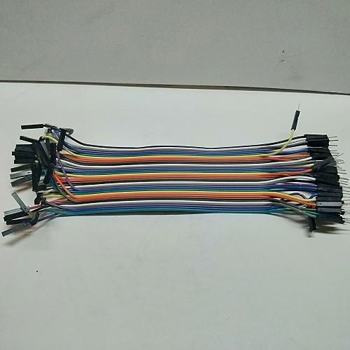 Linh kiện điện tử Dây Cắm Test Board 20Cm - 40 Sợi Dây Cái Cái