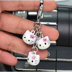 Móc Khóa Chuông Ngộ Nghĩnh Hoạt Hình Mèo Hello Kitty Sành Điệu
