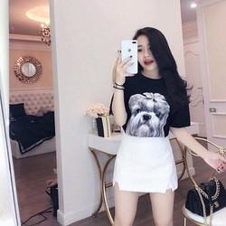 Quần giả váy xẻ tà-Quần váy Kaki xinh