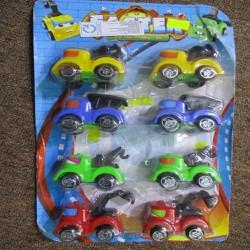 Vỉ đồ chơi 8 xe oto công trình chạy trớn