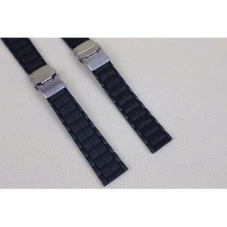 Dây đồng hồ cao su khóa vân ngói kiểu 2 khóa bấm - dây cao su khóa vân ngói thumbnail