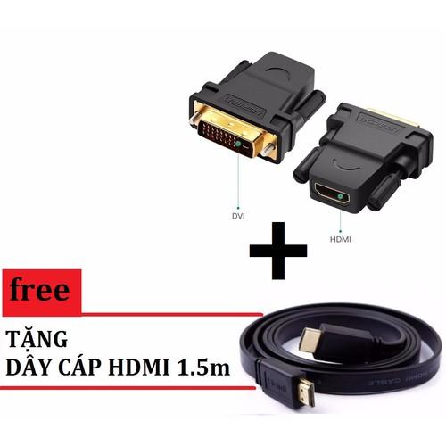 Đầu chuyển DVI 24+1 sang HDMI + Tặng kèm cáp HDMI 1.5M Dẹt - 5580344 , 9406082 , 15_9406082 , 29999 , Dau-chuyen-DVI-241-sang-HDMI-Tang-kem-cap-HDMI-1.5M-Det-15_9406082 , sendo.vn , Đầu chuyển DVI 24+1 sang HDMI + Tặng kèm cáp HDMI 1.5M Dẹt