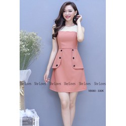 TiiT Shop - Đầm Peplum Kim Tuyến Siêu Xinh BTD8