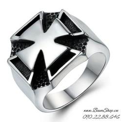 Nhẫn nam cao cấp khắc thánh giá độc đáo