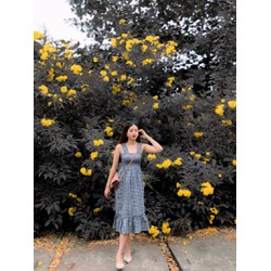 Đầm caro  xinh lung linh