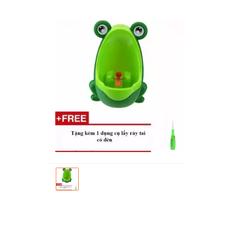 Bô tiểu thông minh hình chú ếch cho bé Tặng kèm 1 dụng cụ lấy ráy tai