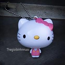 Móc Khóa Hoạt Hình Mèo Hello Kitty Có Thước Dây Cực Thời Trang