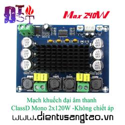 Mạch khuếch đại âm thanh ClassD Mono 2x120W -Không chiết áp